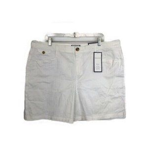 NWT Charter Club Womens Bright White Chino Shorts